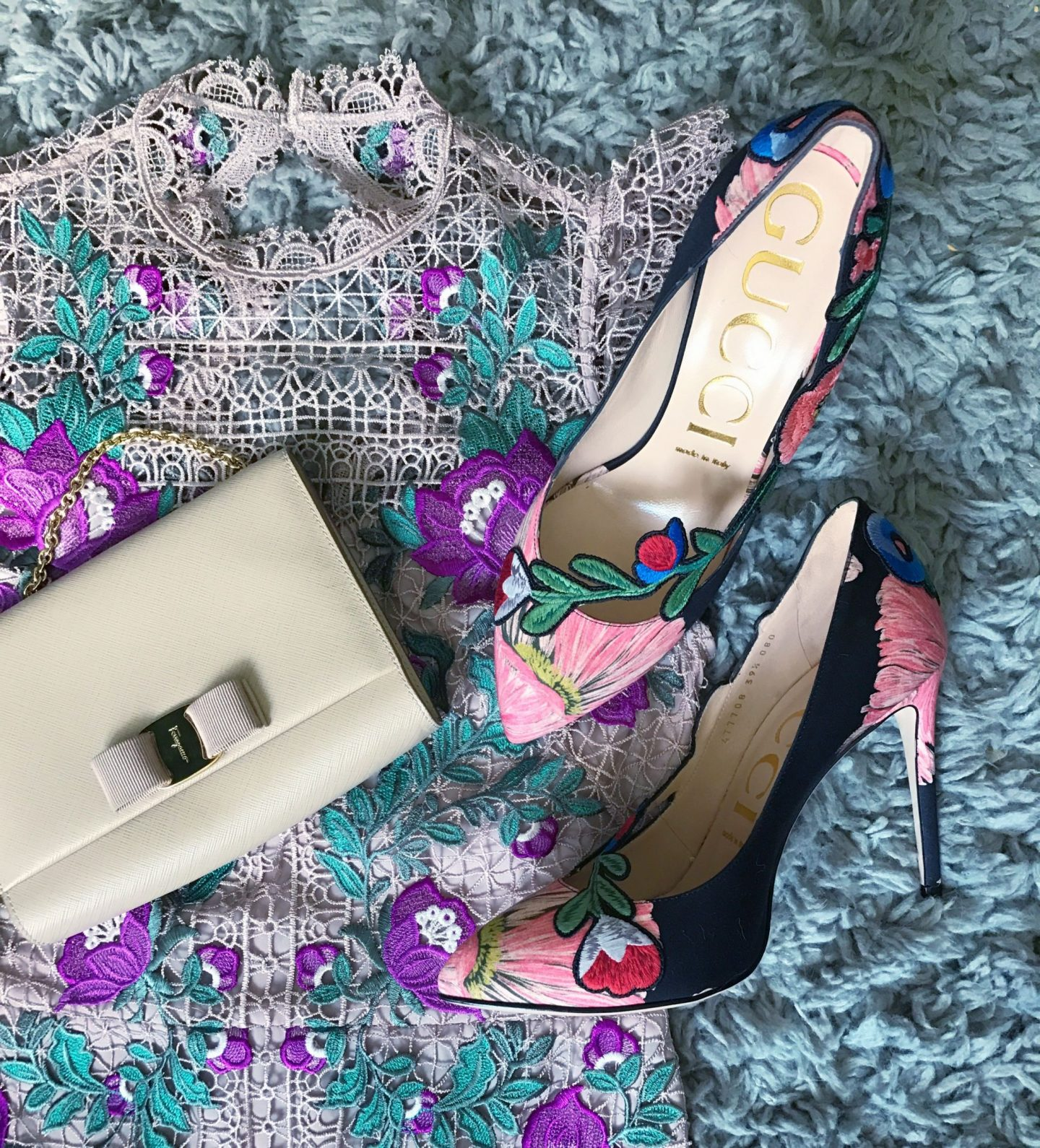 Gucci Sale New Collection Floral Pumps Karen Millen Floral Dress Salvatore Ferragamo Miss Vara