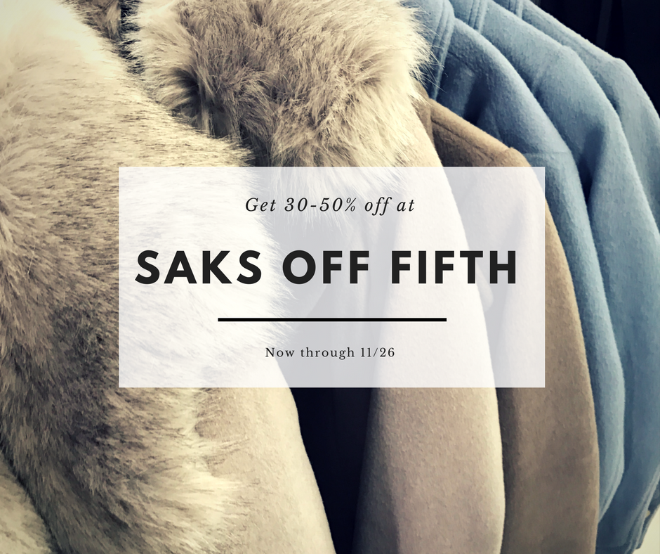 Saks off Fifth Black Friday Sales