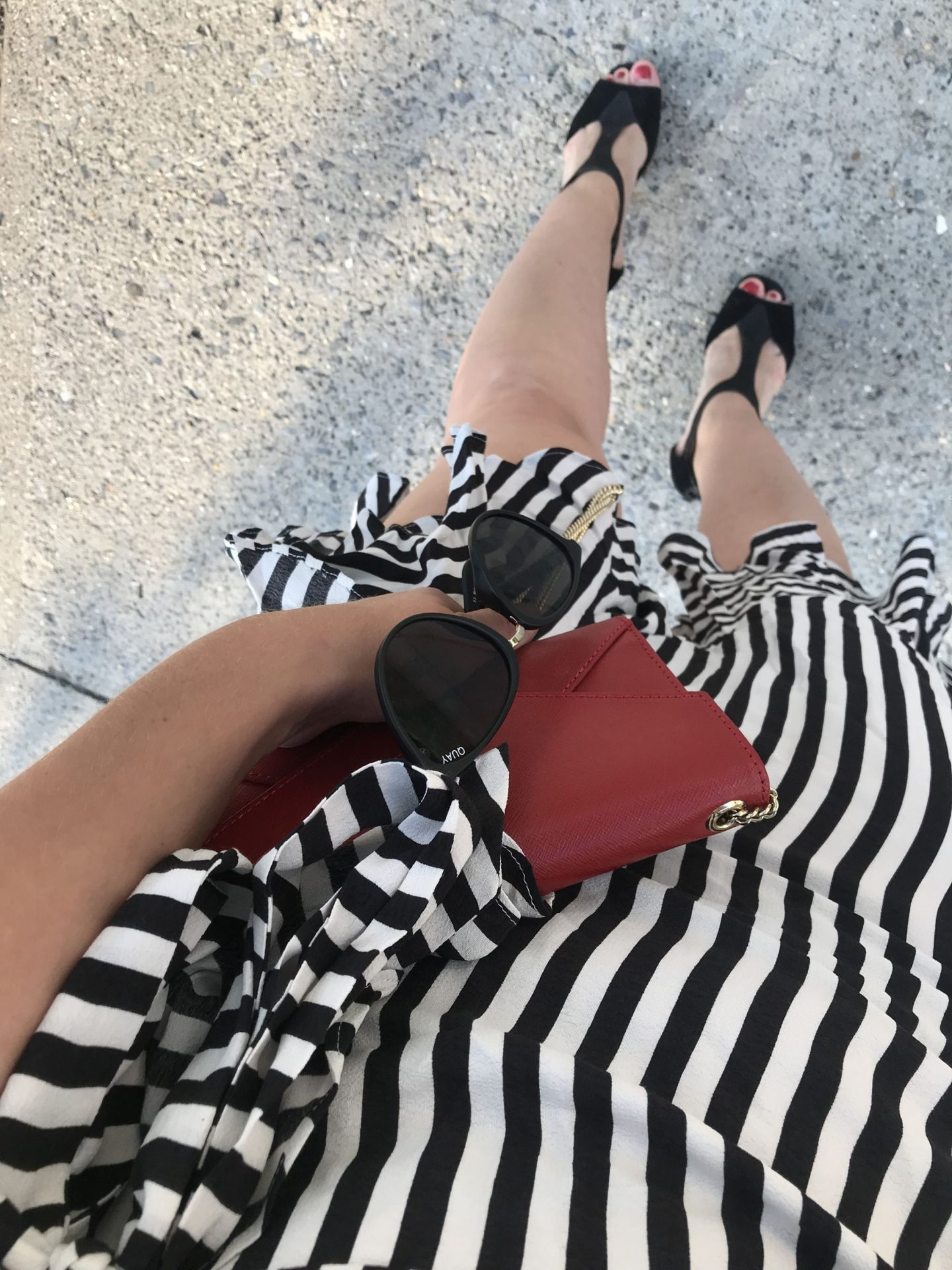 Stripes and Polka Dots Outfit - Day 1 of the EasilyDressed Challenge Part II