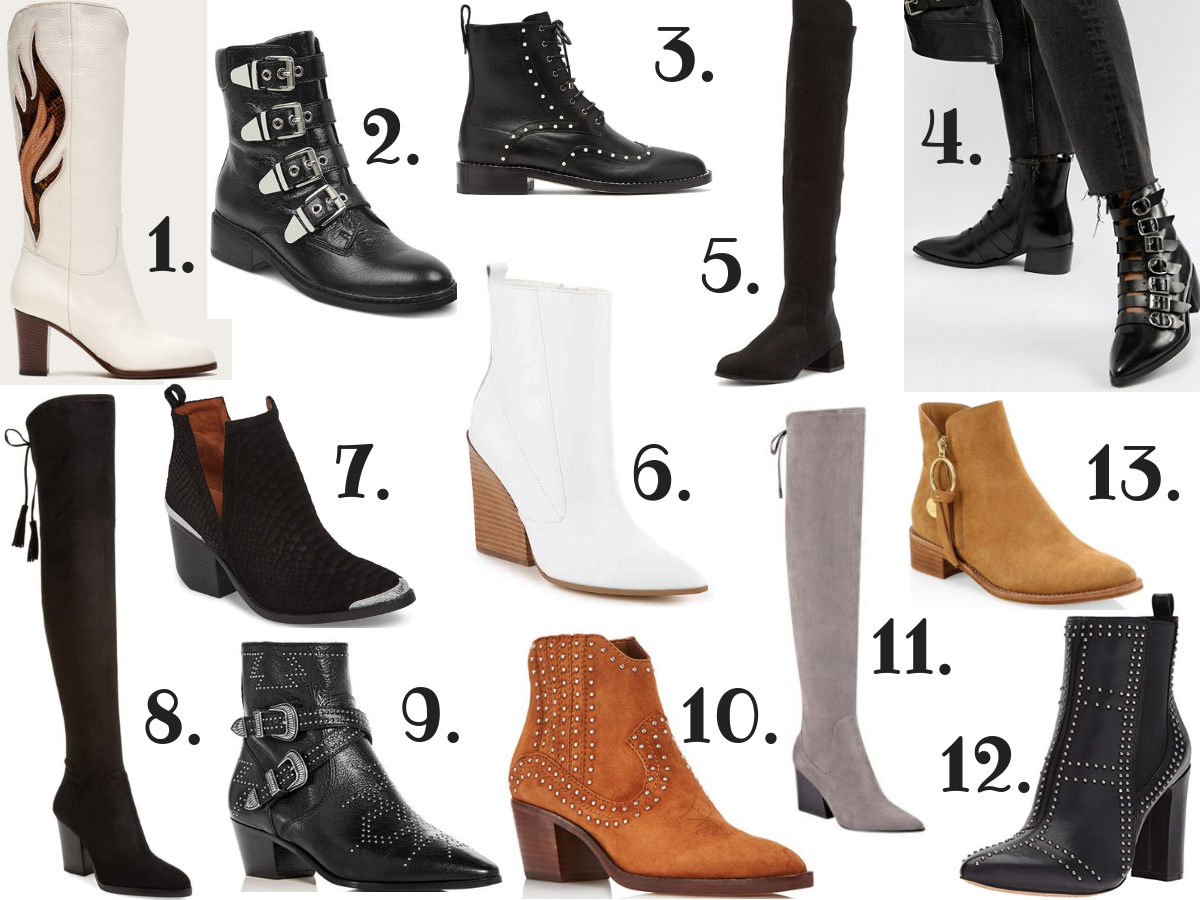 Current Fashion Trends Boots for Fall