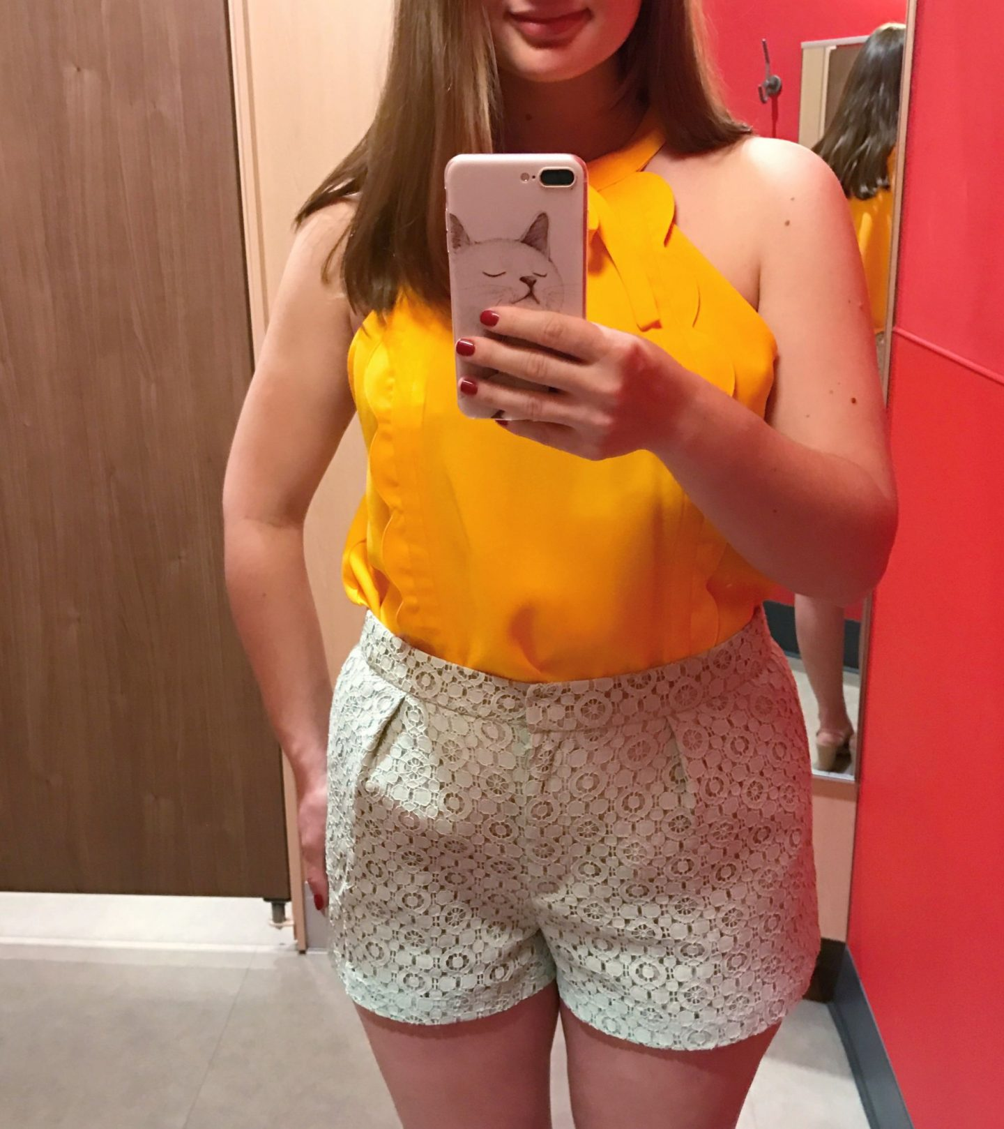 Victoria Beckham for Target Review Yellow Top Lace Shorts