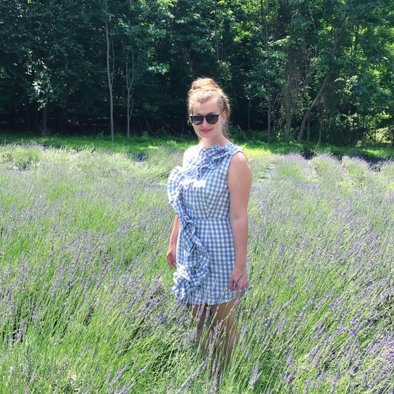 Irina Dorn Lavender Farm Near NYC Pleasant Valley Lavender Missguided Ruffled Dress