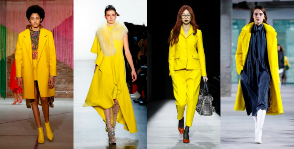 Yellow Fashion Trends 2018