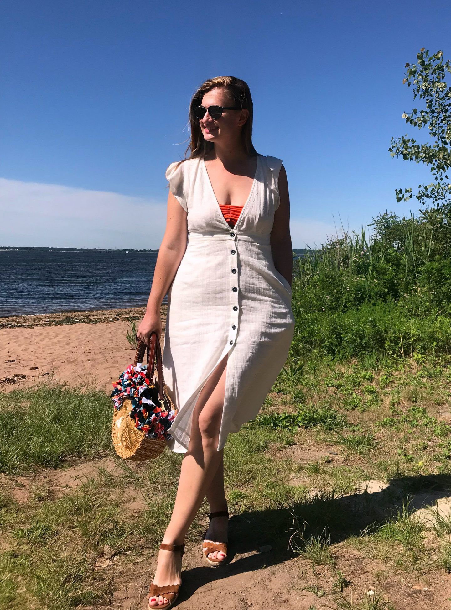 White Summer Dress: Day 4 of The EasilyDressed Challenge Part II