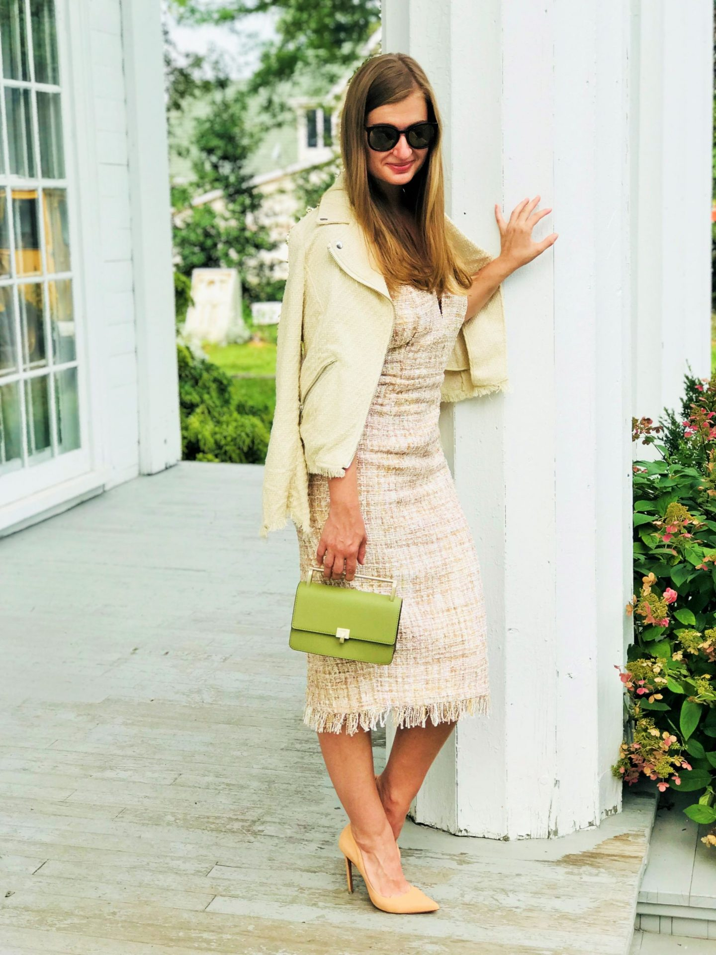 Tweed Outfit LNA Strapless Dress