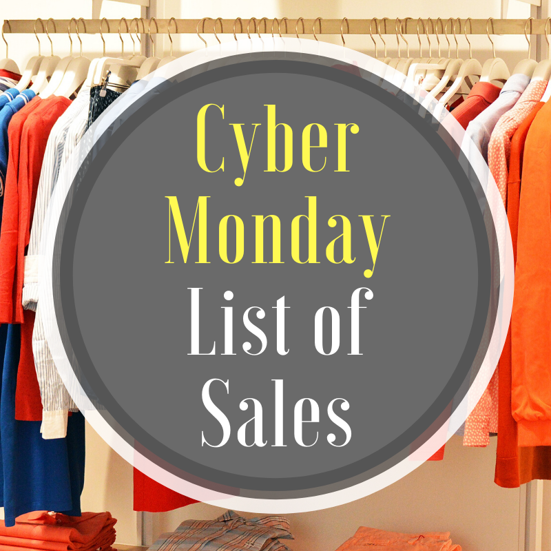 Cyber Monday List of Sales