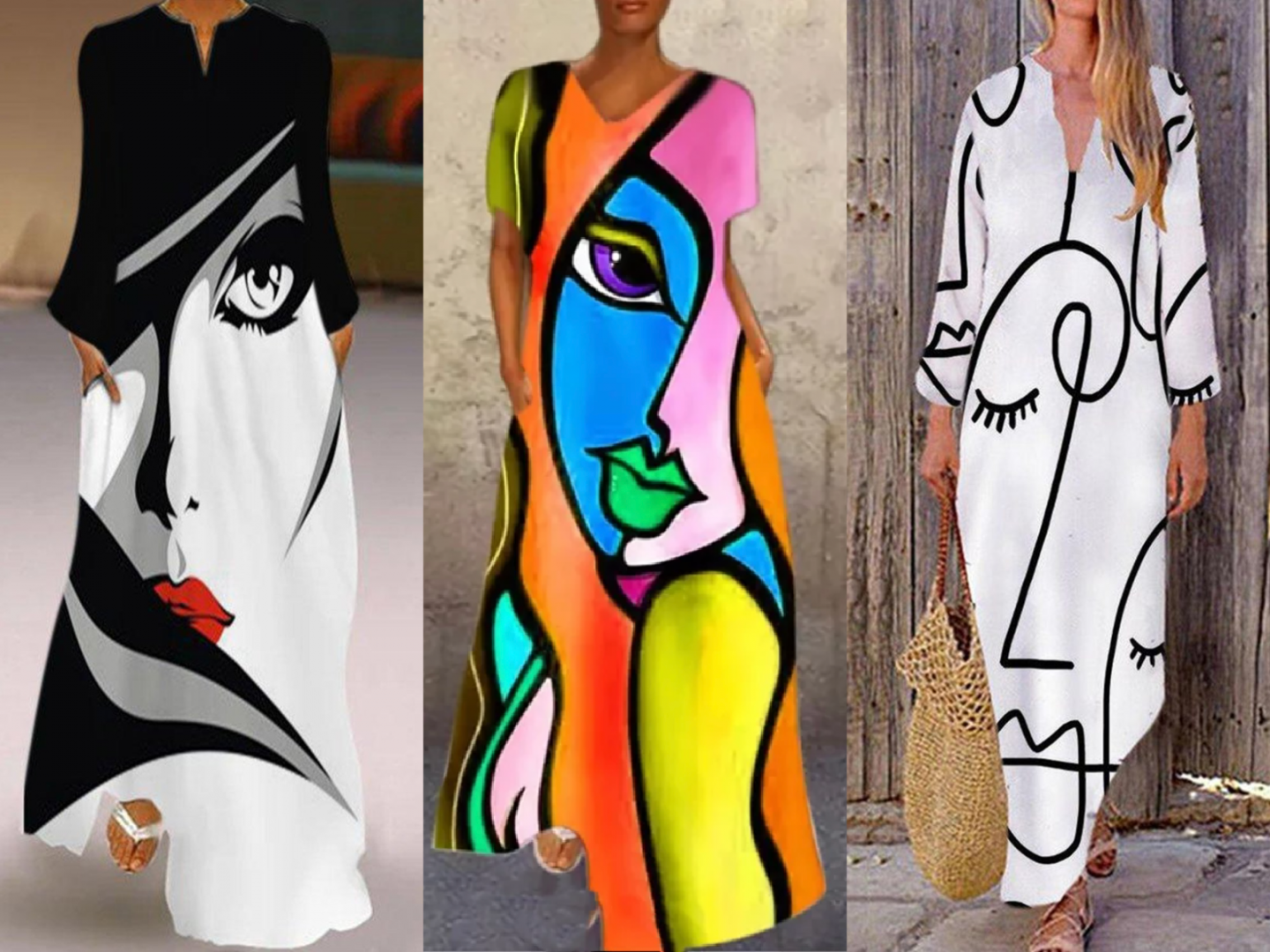 Abstract Print Dresses